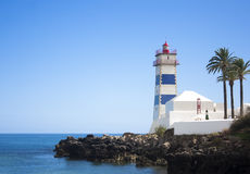 Lighthouse in Cascais, Portugal Royalty Free Stock Images