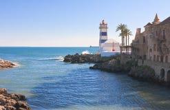 Lighthouse. Cascais. Portugall Stock Image