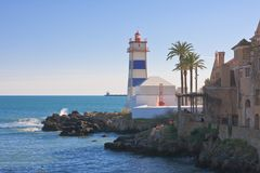 Lighthouse. Cascais. Portugall Royalty Free Stock Photography
