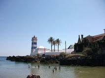 Lighthouse of Cascais on a sunny afternoon (Portugal). Picture of Cascais on a sunny afternoon (Portugal Royalty Free Stock Photography