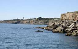 Lighthouse in Cascais Royalty Free Stock Photo