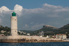 Lighthouse in Cassis Stock Image