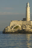 Lighthouse at Castillo del Morro, El Morro Fort, across the Havana channel, Cuba Stock Photography