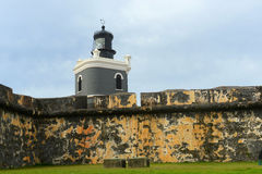 Lighthouse at Castillo San Felipe del Morro, San Juan Royalty Free Stock Photo