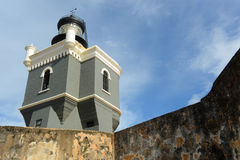 Lighthouse at Castillo San Felipe del Morro, San Juan Stock Image