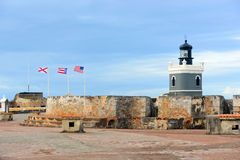 Lighthouse at Castillo San Felipe del Morro, San Juan Royalty Free Stock Photography
