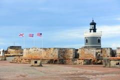 Lighthouse at Castillo San Felipe del Morro, San Juan Royalty Free Stock Photography