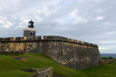 Lighthouse at Castillo San Felipe del Morro, San Juan Stock Photos