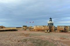 Lighthouse at Castillo San Felipe del Morro, San Juan Royalty Free Stock Image