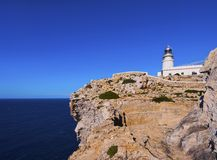 Lighthouse on Cavalleria Cape on Minorca Stock Photo