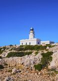 Lighthouse on Cavalleria Cape on Minorca Royalty Free Stock Images