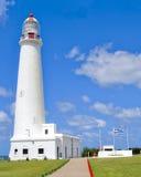 Lighthouse in the CELESTE sky! Royalty Free Stock Photos