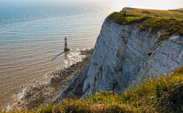 Lighthouse and chalk cliffs at Beachy Head Royalty Free Stock Photos