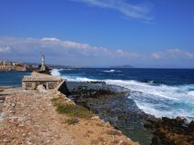 Lighthouse in the Chania Royalty Free Stock Images