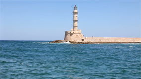 Lighthouse in Chania stock video
