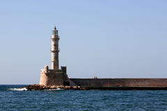 Lighthouse at Chania, Crete Stock Image