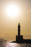 Lighthouse in Chania, Crete Stock Photo