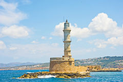 Lighthouse at Chania Crete. royalty free stock image