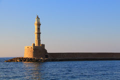 Lighthouse Chania Crete day shot Stock Images