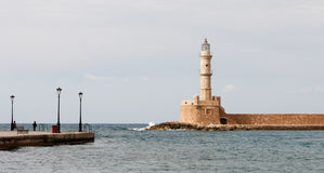 Lighthouse of Chania in Crete Stock Photography