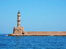 Lighthouse at Chania, Crete Royalty Free Stock Photography