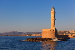 Lighthouse at Chania, Crete Royalty Free Stock Images