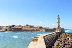 The Lighthouse in Chania. Crete Royalty Free Stock Photography