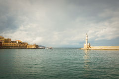 Lighthouse at Chania Royalty Free Stock Images