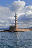Lighthouse at Chania, Greece Royalty Free Stock Photo