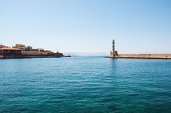 Lighthouse in Chania, Greece Royalty Free Stock Photos
