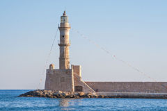 Lighthouse in Chania Royalty Free Stock Images