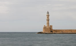 Lighthouse of  Chania town in  Crete, Greece Royalty Free Stock Photography