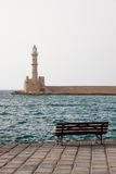 Lighthouse in Chania royalty free stock photo