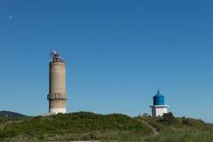 Lighthouse of the Chapel of St. Nicholas. Big Utrish. Russia. Krasnodarskiy Kray Royalty Free Stock Photo