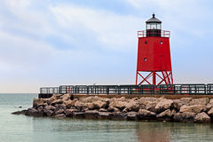 Lighthouse in Charlevoix, Michigan Stock Photos