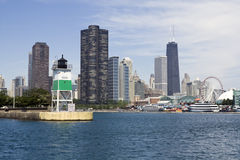 Lighthouse in Chicago stock photo