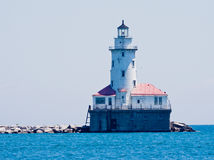 Lighthouse in Chicago. The lighthouse of Navy Pier on Lake Michigan, Chicago, Illinois, United States Royalty Free Stock Photos