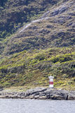 Lighthouse in Chilean Fjords Royalty Free Stock Photography