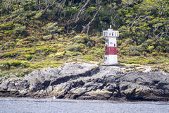 Lighthouse in Chilean Fjords Stock Photo