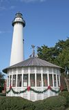 Lighthouse at Christmas 4 Stock Image