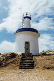 Lighthouse of the cies islands Royalty Free Stock Photography