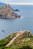 Lighthouse of the cies islands Stock Photo