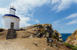 Lighthouse of the cies islands Stock Image