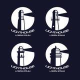 Lighthouse circle badges Stock Photography