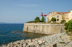 Lighthouse of the citadel of Ajaccio Stock Images