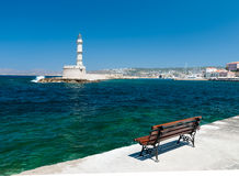 Lighthouse in the city of Chania. Stock Image