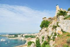 Lighthouse in the city of Corfu Royalty Free Stock Images