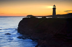 Lighthouse On Cliff Stock Photography