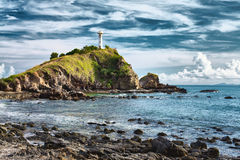 Lighthouse on a Cliff Royalty Free Stock Photos