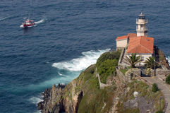 Lighthouse on cliff Royalty Free Stock Image